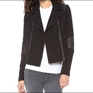 Vince Boucle Wool and Leather Moto Jacket